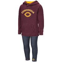Ch179 Toddler Girl Set With Hooded Sweatshirt And Knit Jeggings