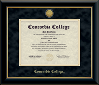 Dip-3Ma Engraved Black/Gold Diploma Frame Suede Mat