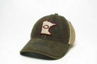 Hat129 Washed Trucker Style With State Logo Patch