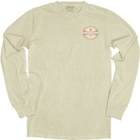 Ls153 Long Sleeve Garment Washed Tee With Large Imprint On Back