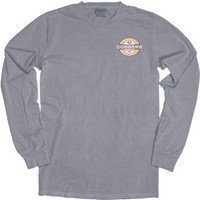 Ls154 Long Sleeve Garment Washed Tee With Large Imprint On Back