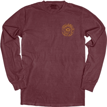Ls162 Concordia Dyed Ringspun Super Soft L/S Sleeve Tee With Left Chest And Large Back Circle Logo (SKU 1091211947)