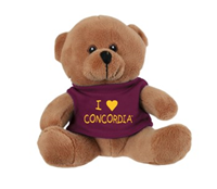 Pl19 Teddy Bear With I Heart Concordia Tee