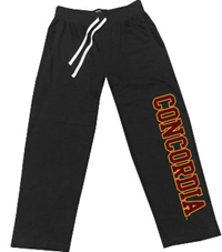 Pt142  Concordia Imprinted Open Bottom Sweatpant