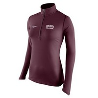 Uf293 Nike Ladies Drifit 1/2 Zip With Thumbholes