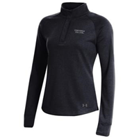 Uf391 Ladies Under Armour Double Knit 1/4 Snap Covered Placket Top