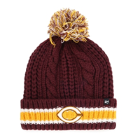 Ww115 Cable Knit Hat With C Logo And Pom