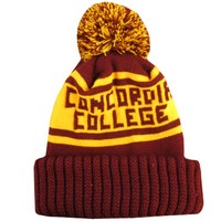 Ww-80 Knit In Concordia College Winter Hat W/Pom