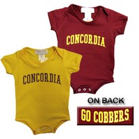 Ch-95 Concordia Childrens Onesie W/ Cobbers Back