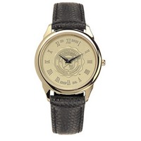 Csi Mens Watch Black Leather Strap