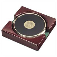Csi-16 Set Of 2 Brass Coasters