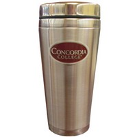 Cup-111 Stainless Travel Mug With Pewter Medallion