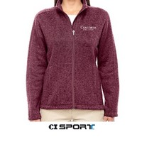 Jak60 Ladies Full Zip Sweater Fleece Jacket