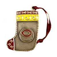 Orn-15 C Concordia Pewter Stocking Ornament