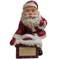 "Orn-34 3"" Resin Concordia Santa Rooftop Ornament"