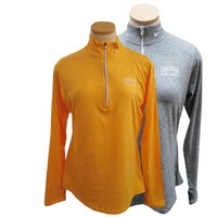 Uf253a Nike Ladies Performance Heathered 1/4 Zip Top