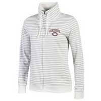 Uf301 Ladies Full Zip Stripe Fleece