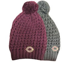 Ww-83 Chunky Knit Hat Logo Hat With Pom